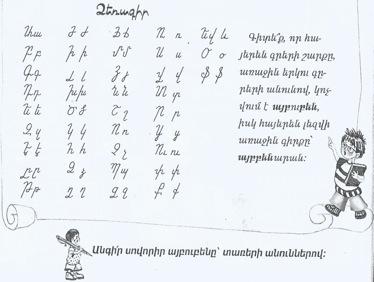 Alfabeto armeno corsivo 1200 -2