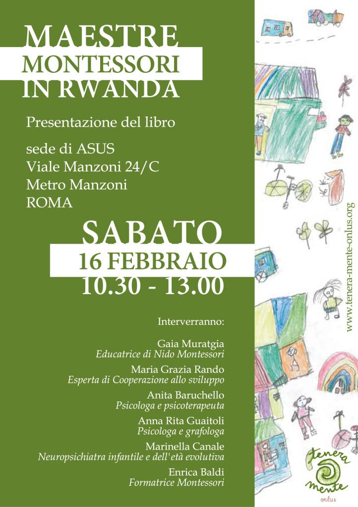 """presentazione libro """"Maestre Montessori in Rwanda"""